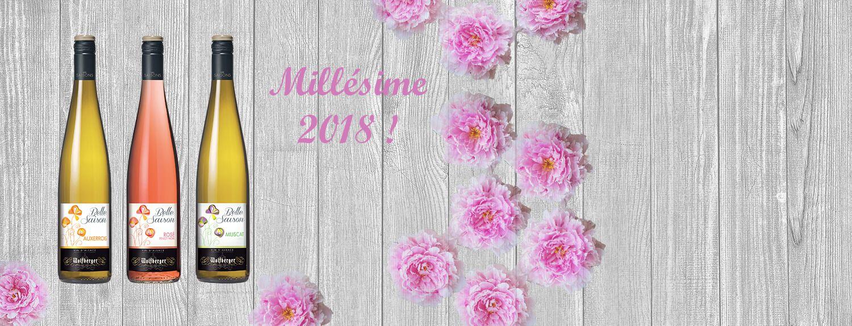 NOUVEAU MILLÉSIME 2018 BELLE SAISON